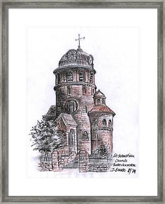St. Sebastian Church Framed Print by Jana Goode