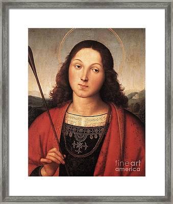 St Sebastian Framed Print by Celestial Images