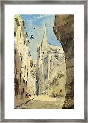 St. Severin Paris Framed Print by James Holland