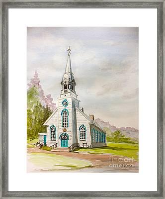 St Simeon Church Quebec Canada Framed Print by Yvonne Ayoub