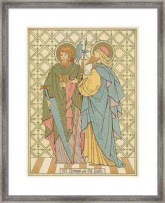 St Simon And St Jude Framed Print by English School