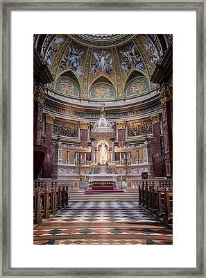 St Stephen's Basilica Interior Budapest Framed Print by Joan Carroll