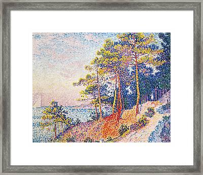 St Tropez The Custom's Path Framed Print by Paul Signac