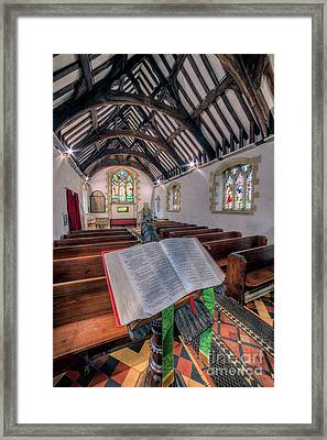 St Tysilios Bible Framed Print by Adrian Evans