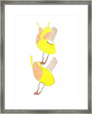 Stabbed To The Heart Framed Print by Giuliano Capogrossi Colognesi