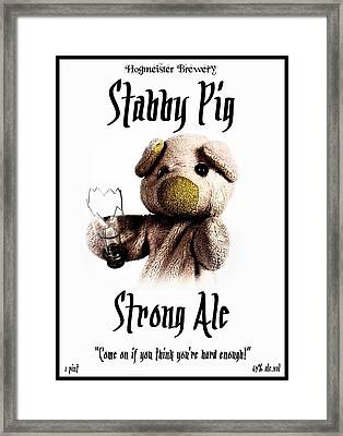 Stabby Pig Strong Ale Framed Print by Piggy