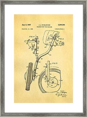 Stableford Golf Trolley 2 Patent Art 1952 Framed Print by Ian Monk