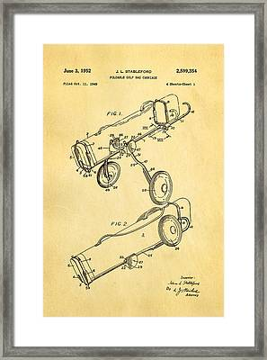 Stableford Golf Trolley Patent Art 1952 Framed Print by Ian Monk
