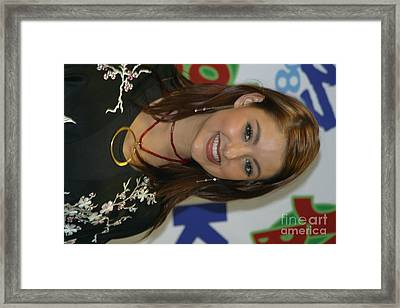 Singer Stacie Orrico Framed Print by Front Row  Photographs
