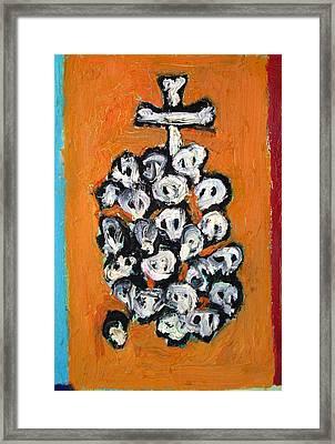Stack Of Skulls-23- And Bones Framed Print by Fabrizio Cassetta