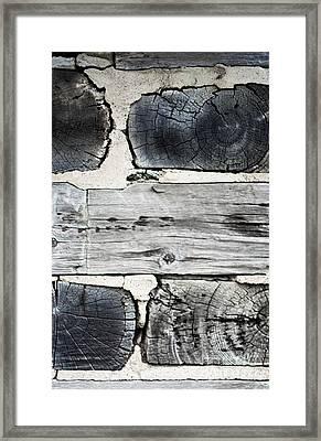 Stacked Block Abstract Framed Print by Barbara McMahon