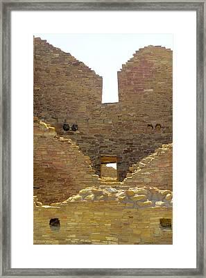 Stacked Doorways Framed Print by Feva  Fotos