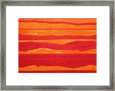 Stacked Landscapes Original Painting Framed Print by Sol Luckman