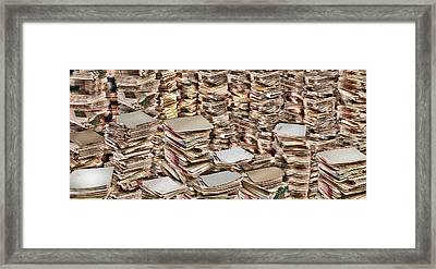 Stacks Of Files Framed Print by Panoramic Images