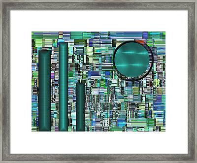 Stacks Framed Print by Wendy J St Christopher