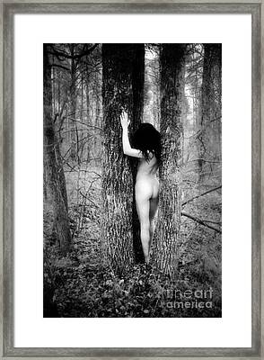 Stacy And The Tree Framed Print by Lindsay Garrett