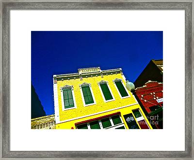 Stafford Gold Framed Print by Chuck Taylor