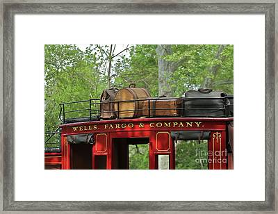Stage Coach Framed Print by Rick  Monyahan