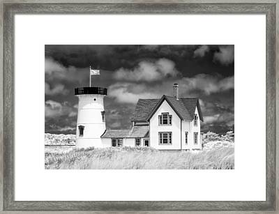 Stage Harbor Light Framed Print by Michael Blanchette