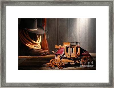 Stagecoach Dream Framed Print by Olivier Le Queinec