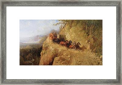 Staging In California Framed Print by Gutzon Borglum