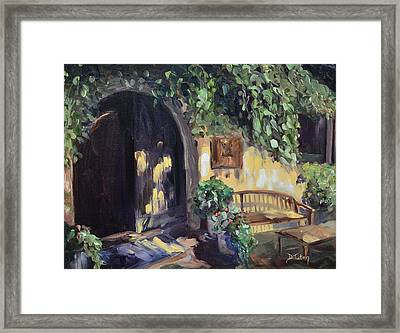 Stags Leap Wine Cellars Tasting Room Framed Print by Donna Tuten