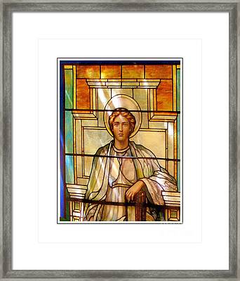 Stain Glass Series Framed Print by Marcia Lee Jones