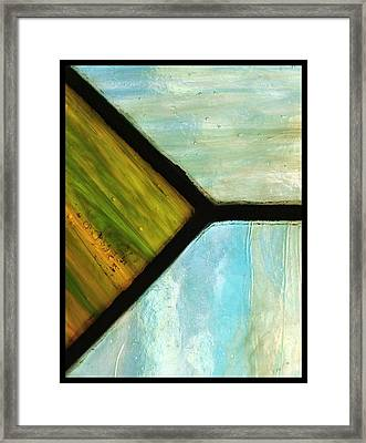 Stained Glass 6 Framed Print by Tom Druin