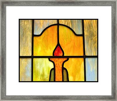 Stained Glass 7 Framed Print by Tom Druin
