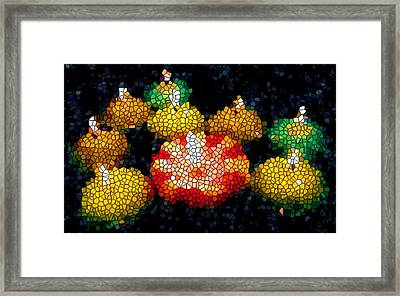 Stained Glass Candle 1 Framed Print by Lanjee Chee