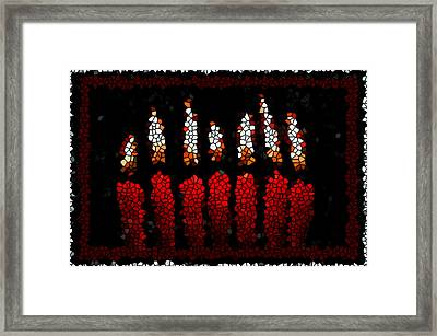 Stained Glass Candle Framed Print by Lanjee Chee