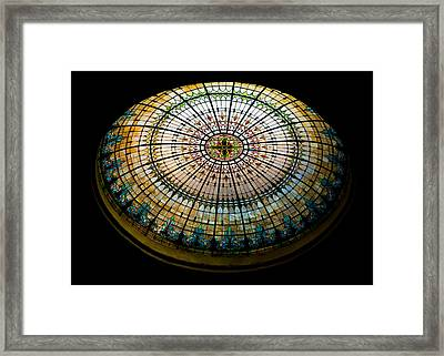 Stained Glass Dome - 1 Framed Print by Stephen Stookey
