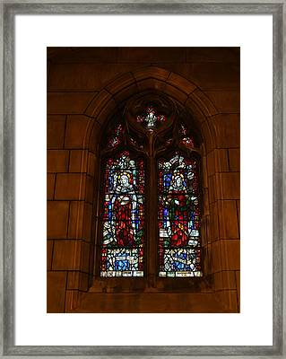 Stained Glass In New York City Framed Print by Dan Sproul