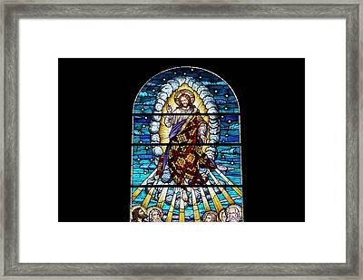 Stained Glass Pc 02 Framed Print by Thomas Woolworth