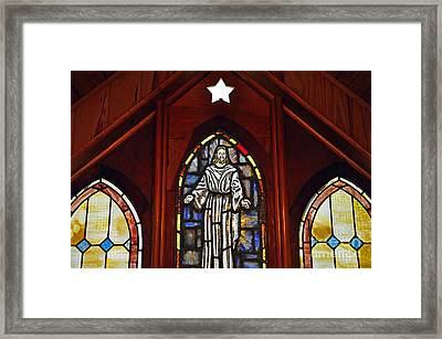 Stained Glass Saviour Framed Print by Al Powell Photography USA