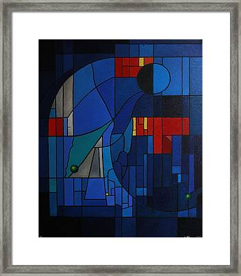 Stained-glass Window Framed Print by Alberto D-Assumpcao