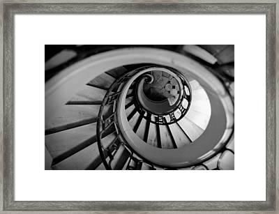 Staircase Framed Print by Sebastian Musial