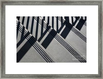 Stairs And Rail Framed Print by Dan Holm