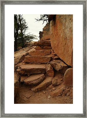 Stairs In The Desert Framed Print by Jeff Swan