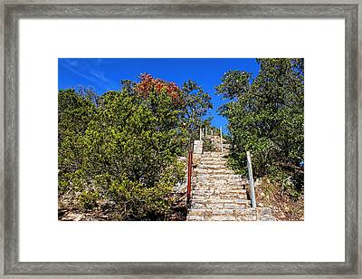 Stairs To Mount Baldy  Framed Print by Judy Vincent