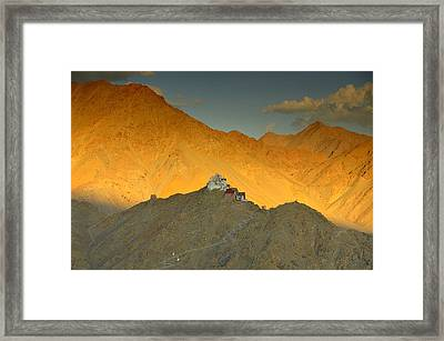 Stairs To Tsemo Framed Print by Aaron S Bedell