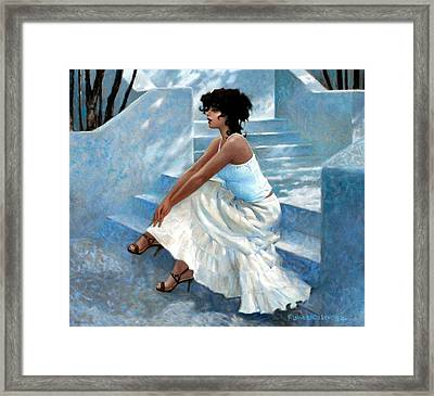 Stairway Stop Framed Print by Kevin Lawrence Leveque