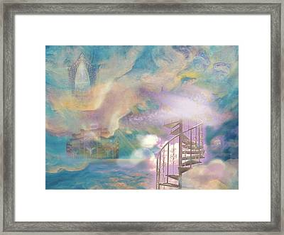 Stairway To Heaven Framed Print by Anne Cameron Cutri