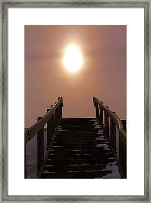 Stairway To Heaven In Ohio Framed Print by Dan Sproul