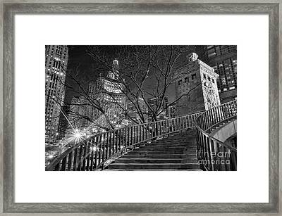 Stairway To Home Framed Print by Jeff Lewis