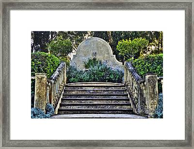 Stairway To Nowhere Framed Print by Kaye Menner