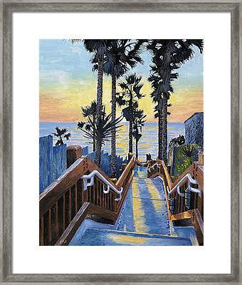 Stairway To Paradise Framed Print by Andrew Palmer