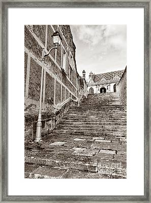 Stairway To Salvation  Framed Print by Olivier Le Queinec