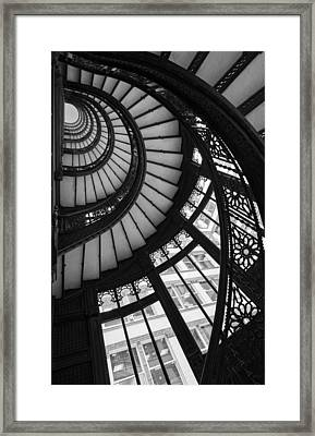 Stairwell The Rookery Chicago Il Framed Print by Steve Gadomski