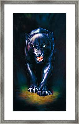 Stalking Panther Framed Print by Andrew Farley